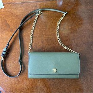 Olive Michael Kors Jet Set Travel Clutch Wallet